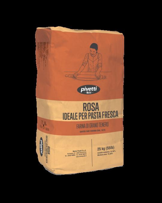 """Farina 00 """" Rosa"""" Sfogl. Gold Pivetti 25kg"""