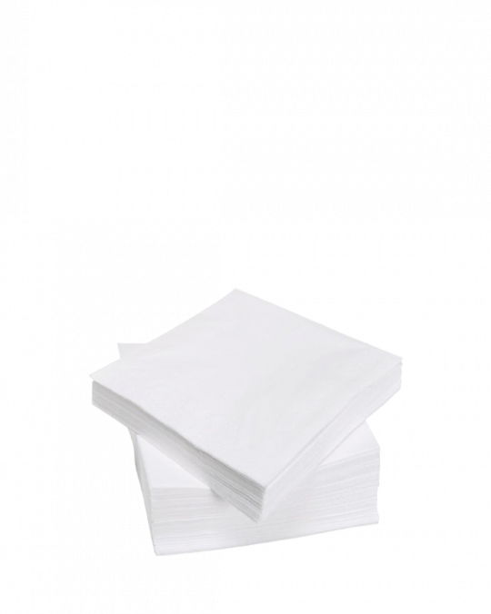 2 Ply White Serviettes 33cm x33cm x2000