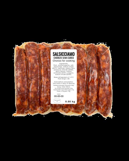 Chorizo Semi-Cured for Cooking Salsicciamo 8x80gr