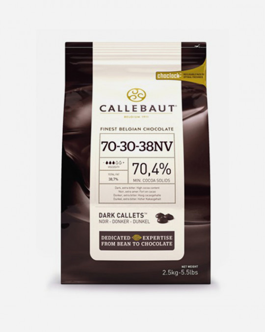 Callebaut Dark Chocolate Drops 70% 2.5kg