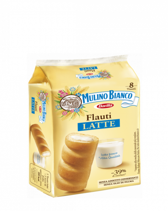 Milk Flauti Latte Mulino Bianco 12x280gr